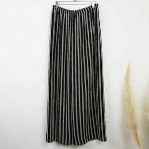 Pants - Striped wide leg high rise palazzo pants